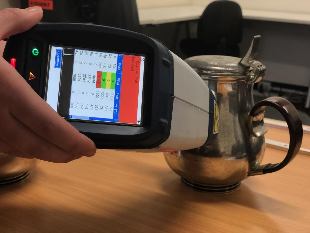 Using hand-held XRF to test for lead